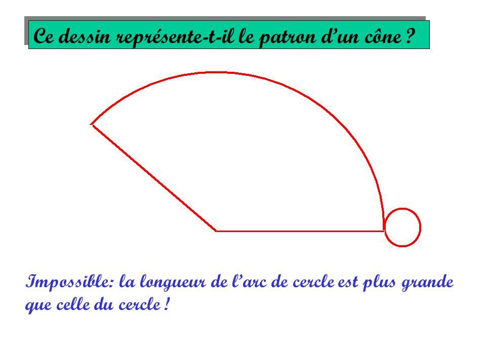 Ce dessin représente-t-il le patron d'un cône