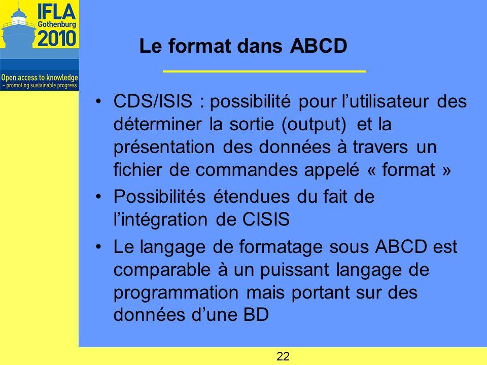 Le format dans ABCD