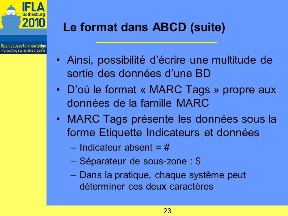 Le format dans ABCD (suite)