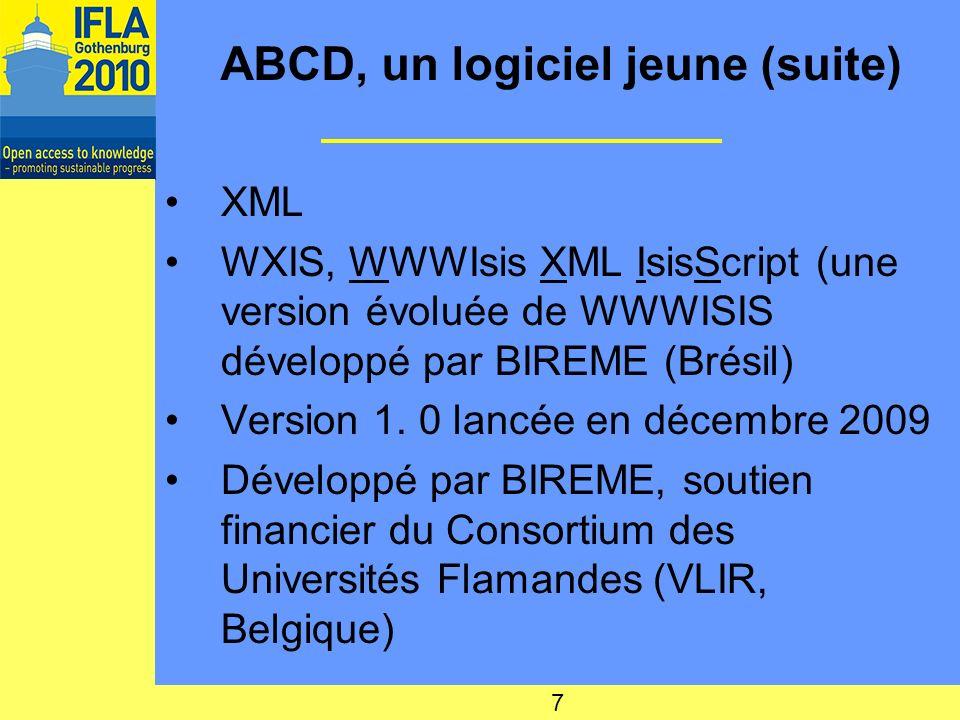 ABCD, un logiciel jeune (suite)