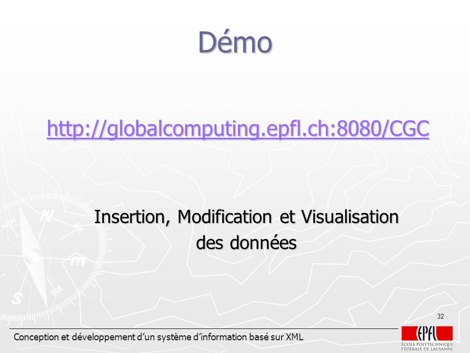 Insertion, Modification et Visualisation