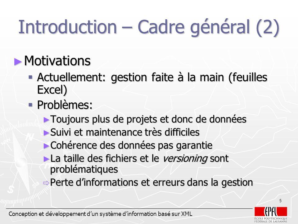 Introduction – Cadre général (2)