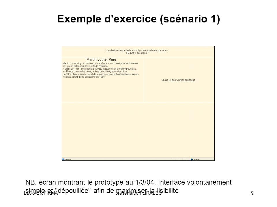 Exemple d exercice (scénario 1)