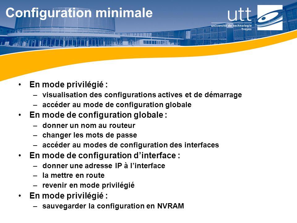Configuration minimale