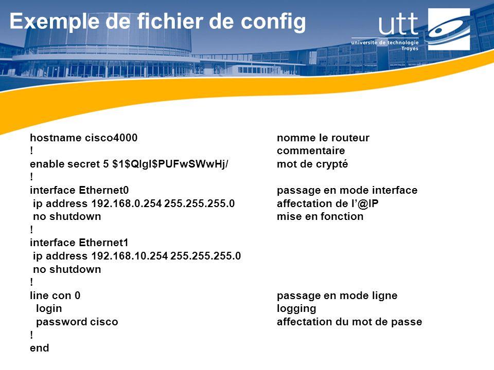 Exemple de fichier de config