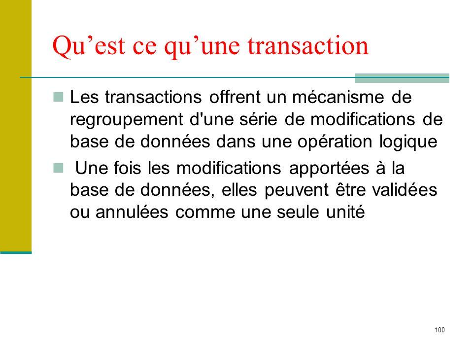 Qu'est ce qu'une transaction