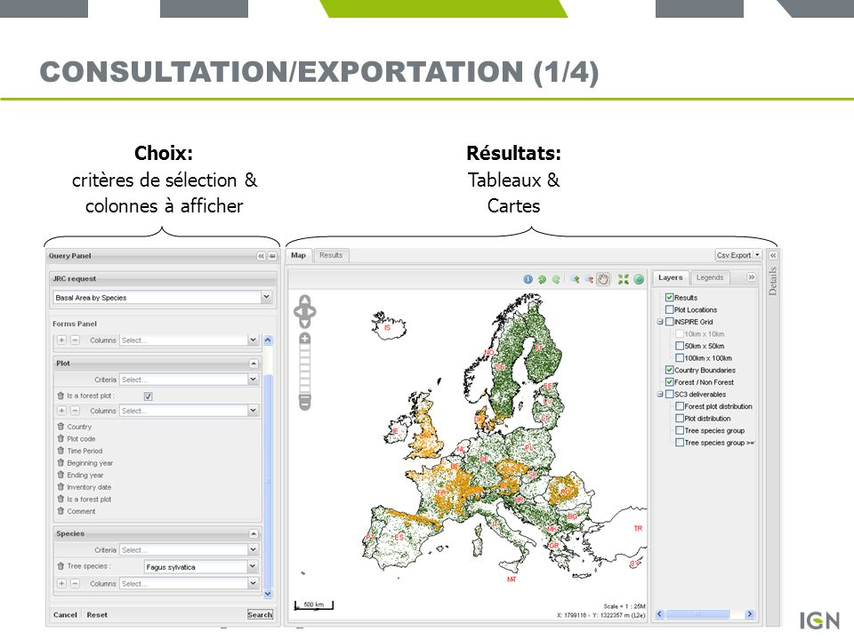 Consultation/exportation (1/4)