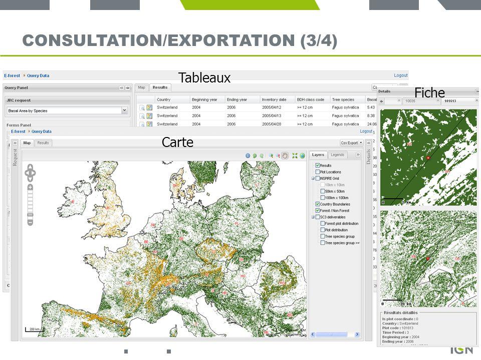 Consultation/exportation (3/4)
