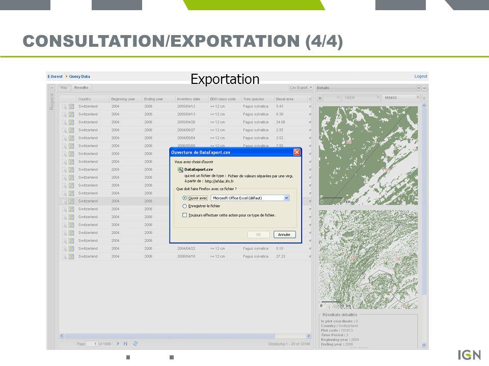 Consultation/exportation (4/4)