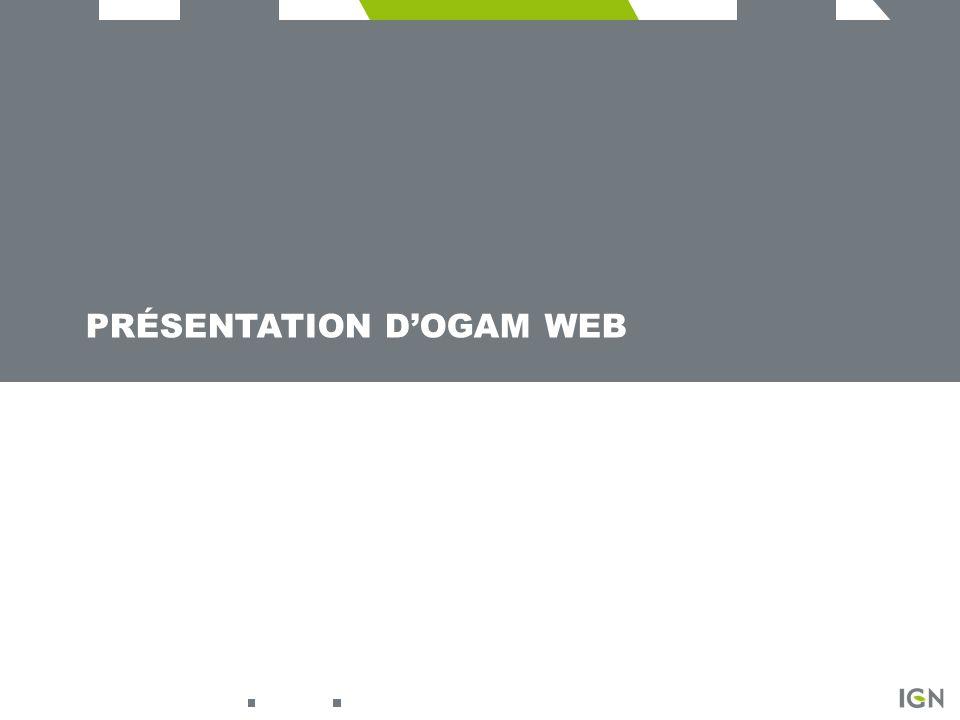 Présentation d'OGAM Web