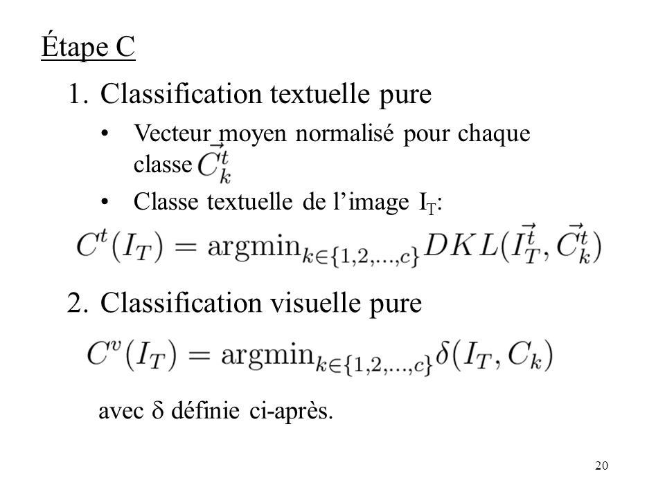 Classification textuelle pure