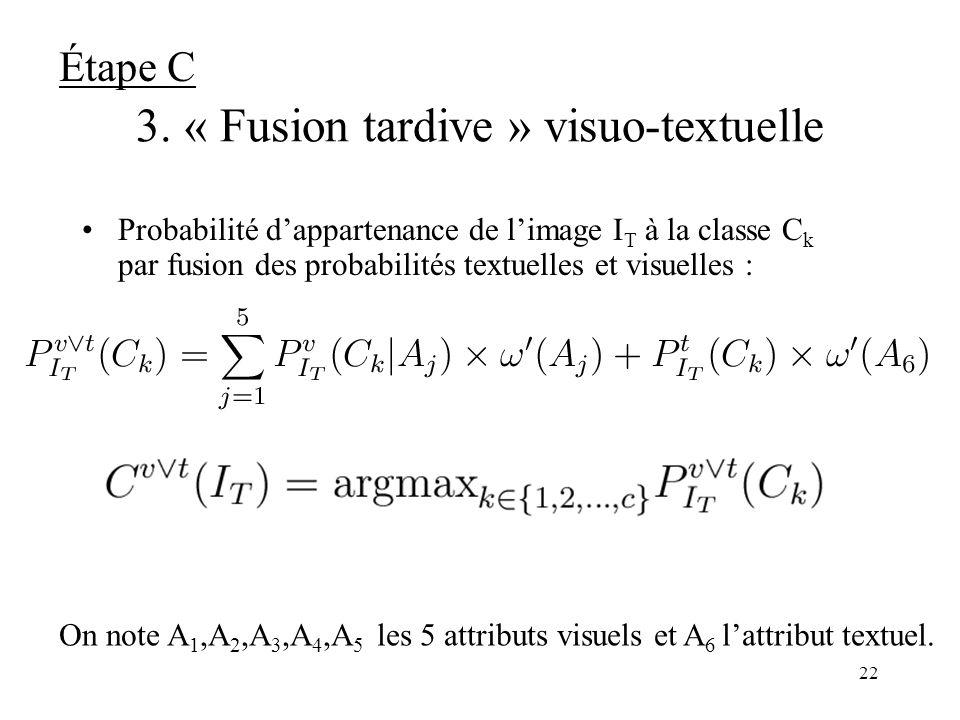 3. « Fusion tardive » visuo-textuelle