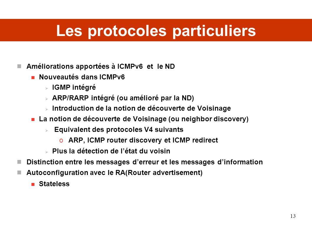 Les protocoles particuliers