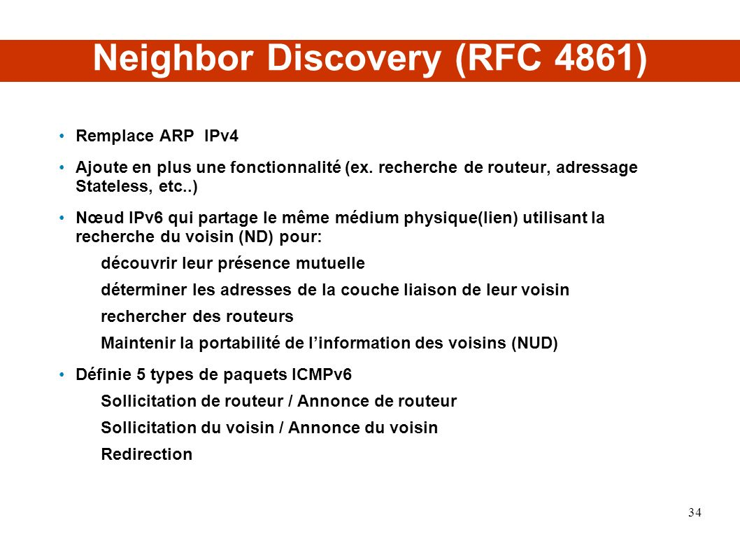 Neighbor Discovery (RFC 4861)‏