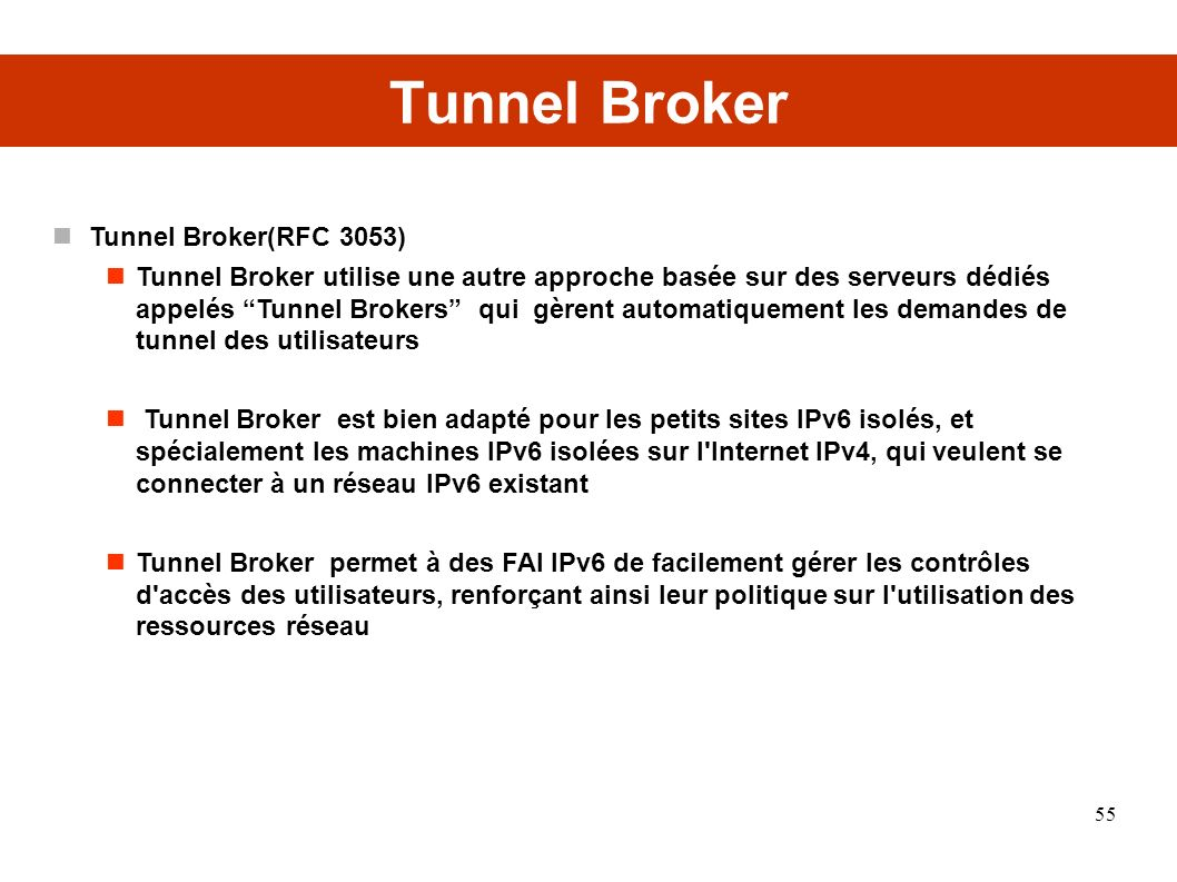 Tunnel Broker Tunnel Broker(RFC 3053)‏