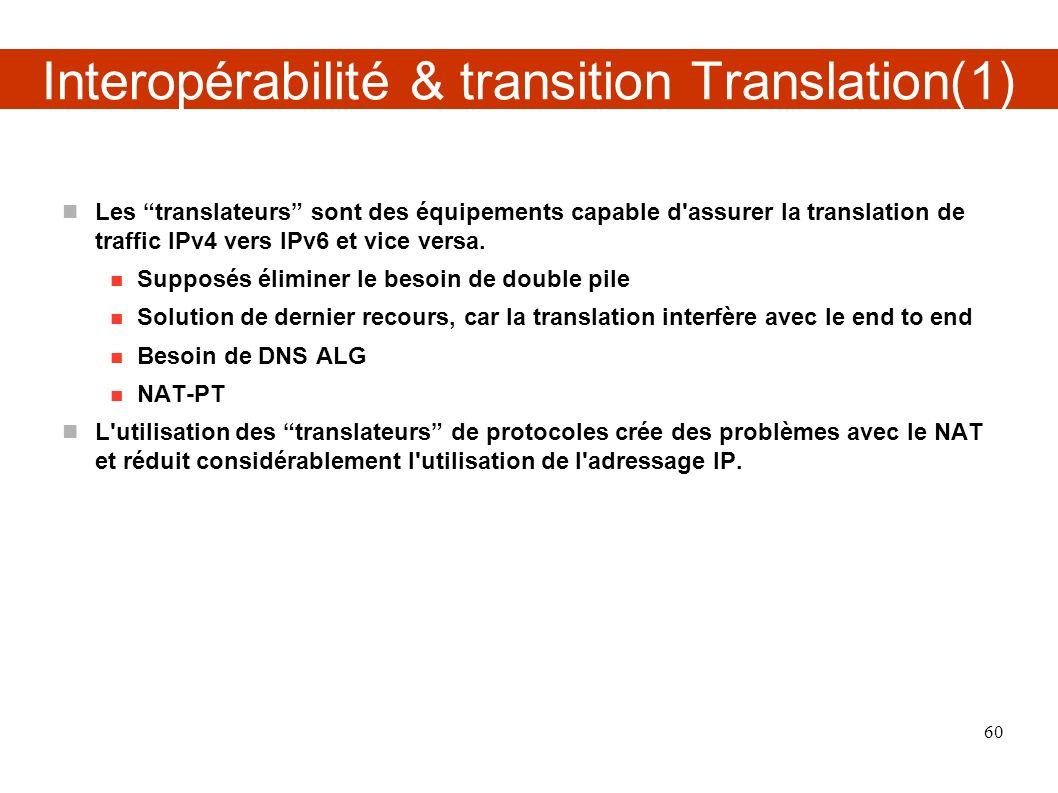 Interopérabilité & transition Translation(1)