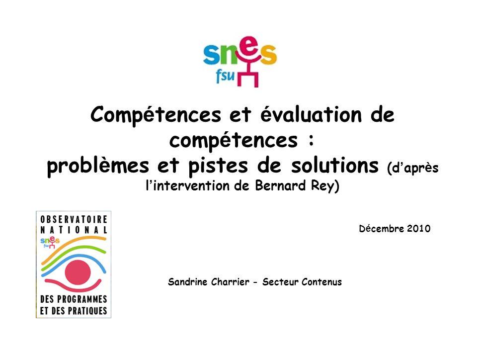 Décembre 2010 Sandrine Charrier - Secteur Contenus