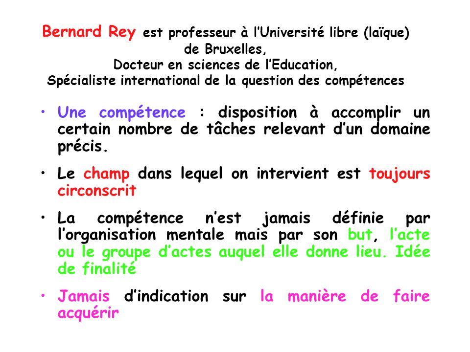 Bernard Rey est professeur à l'Université libre (laïque)