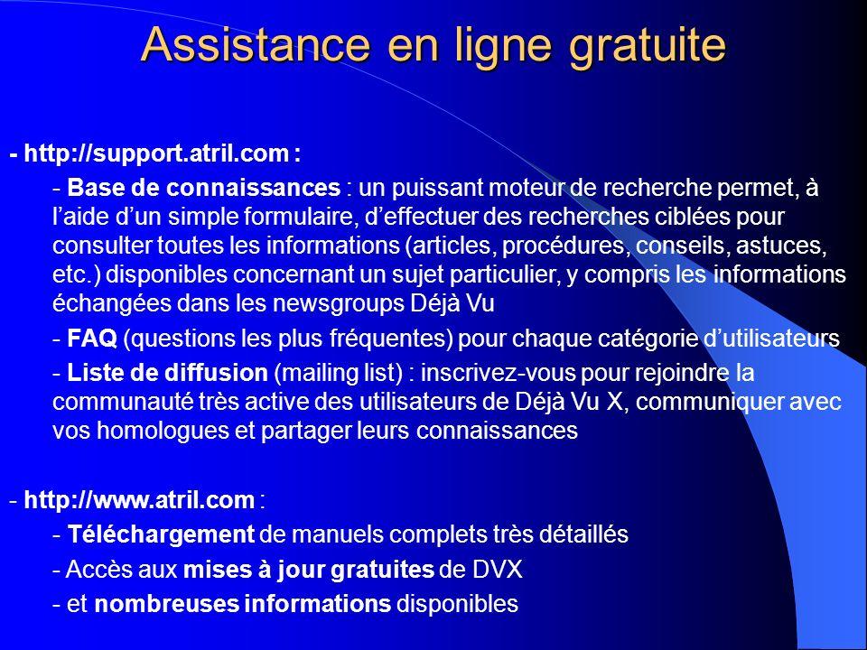 Assistance en ligne gratuite