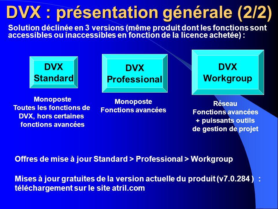 DVX : présentation générale (2/2)