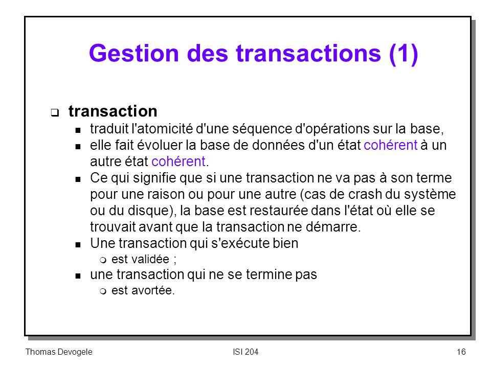 Gestion des transactions (1)