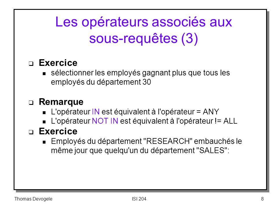 Les opérateurs associés aux sous‑requêtes (3)