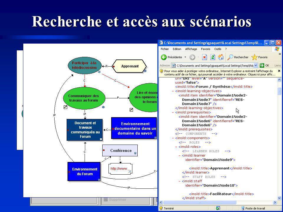 Recherche et accès aux scénarios