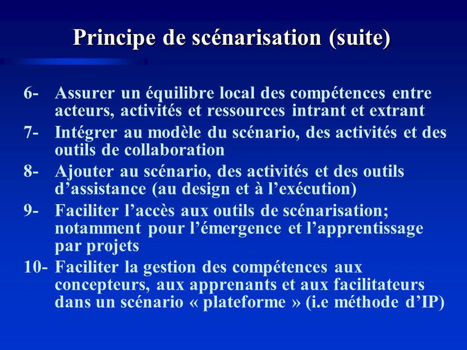 Principe de scénarisation (suite)