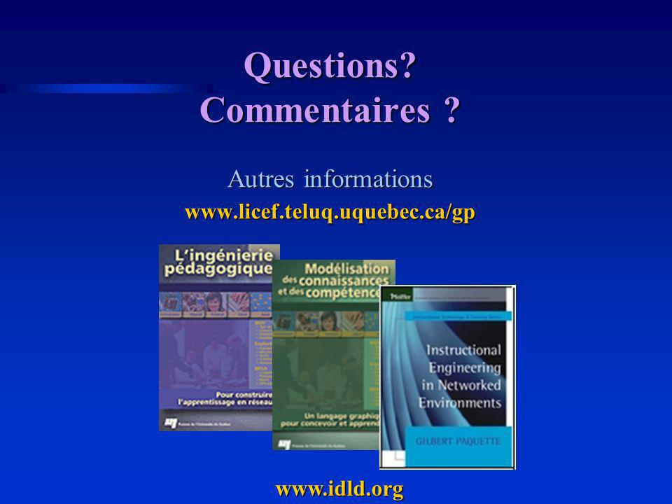 Questions Commentaires Autres informations www.licef.teluq.uquebec.ca/gp