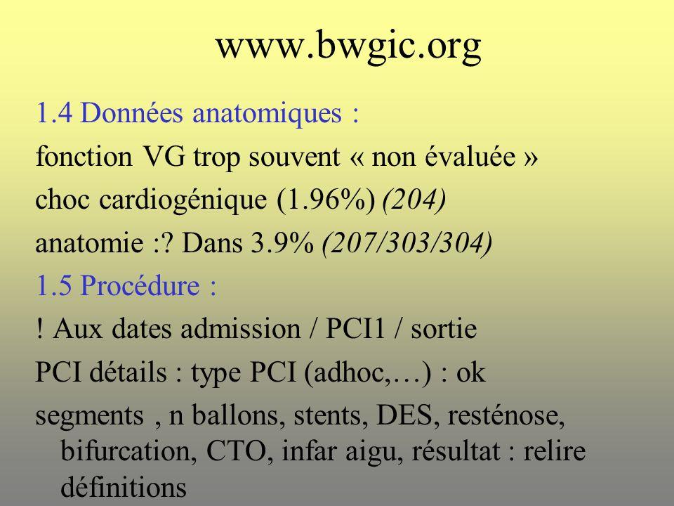 www.bwgic.org 1.4 Données anatomiques :