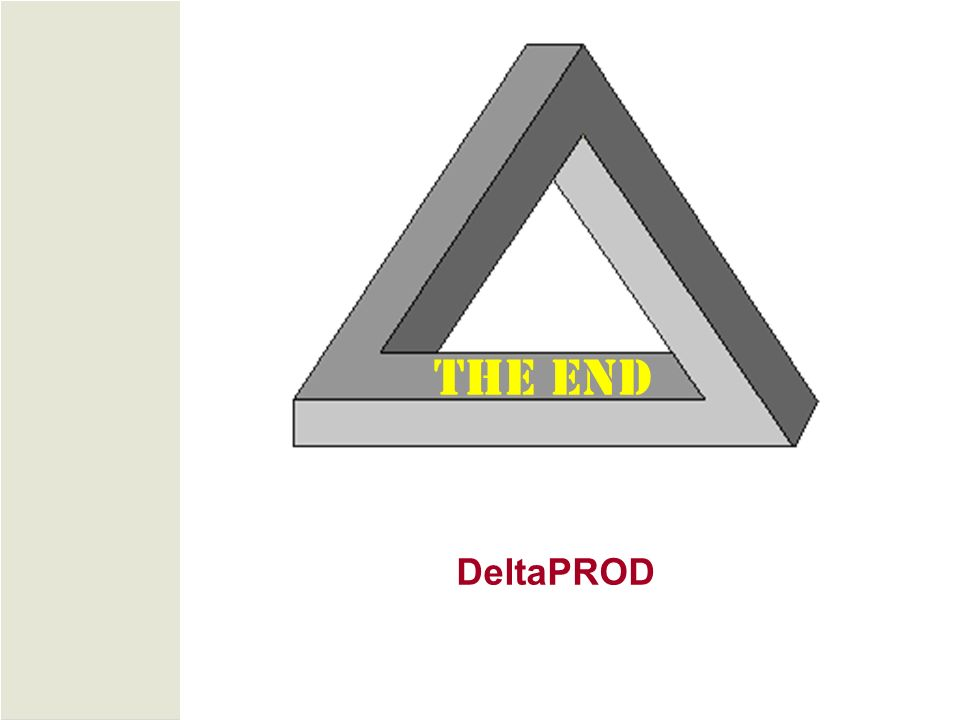 THE END DeltaPROD