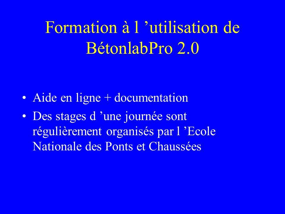 Formation à l 'utilisation de BétonlabPro 2.0