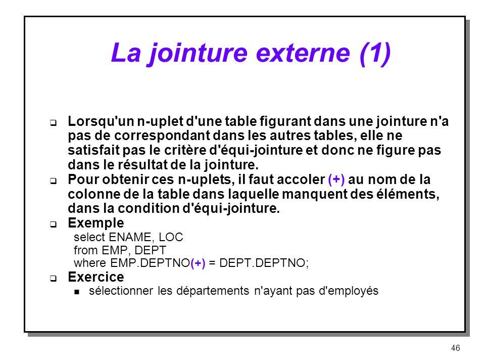 La jointure externe (1)
