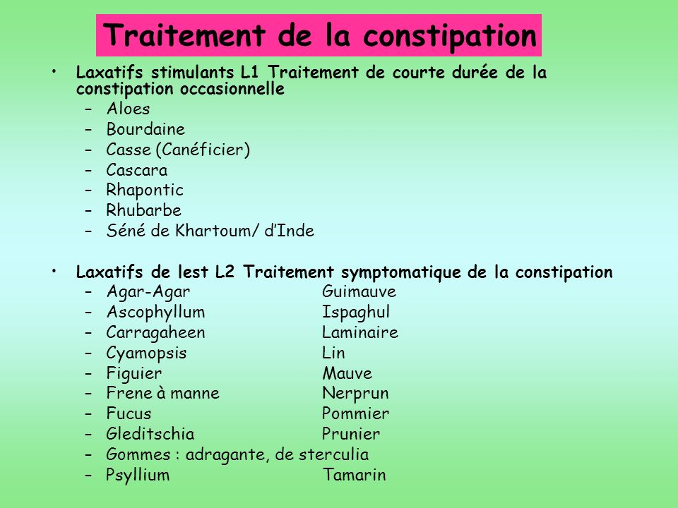 Traitement de la constipation