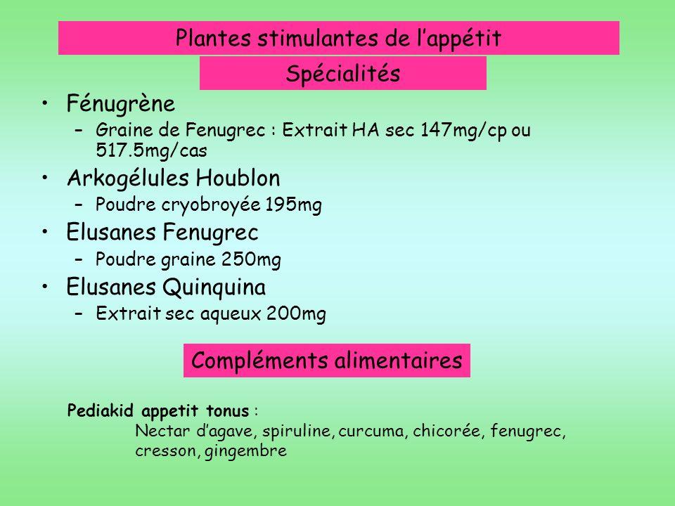 Plantes stimulantes de l'appétit