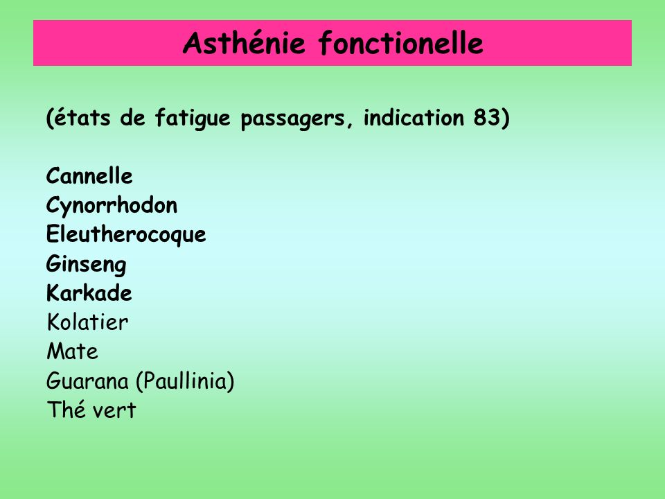 Asthénie fonctionelle