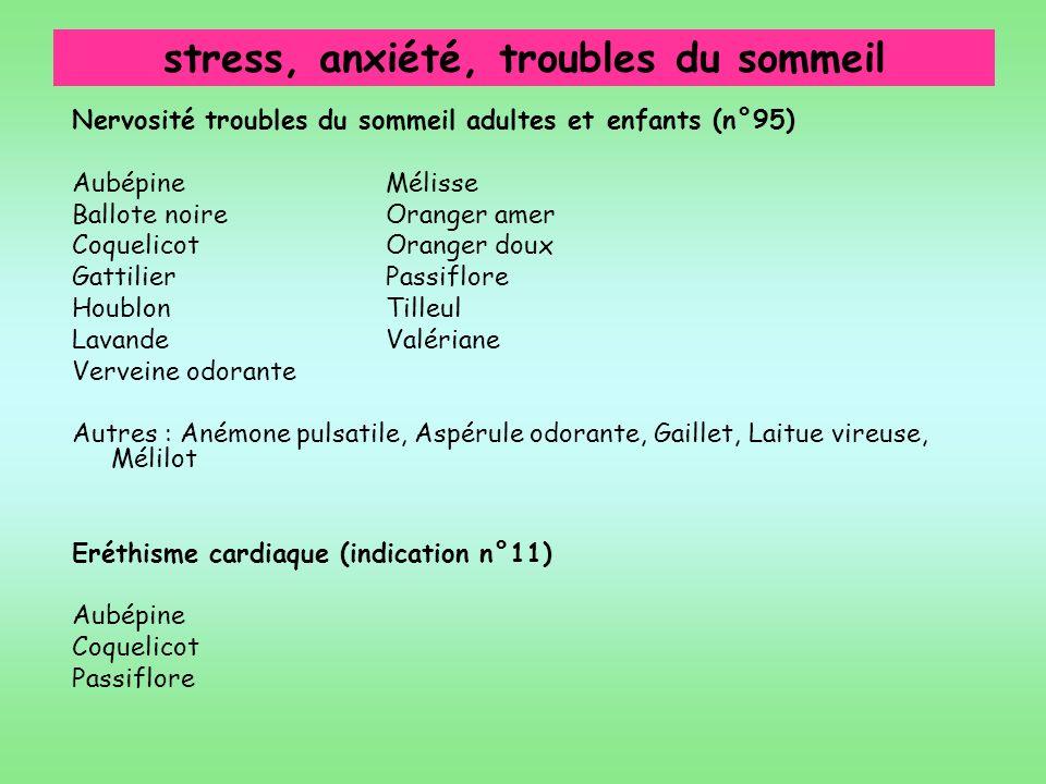 stress, anxiété, troubles du sommeil