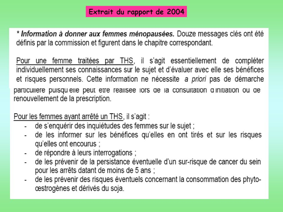 Extrait du rapport de 2004