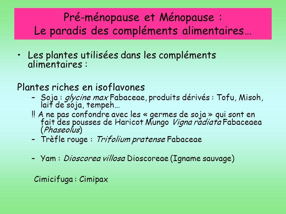 Pré-ménopause et Ménopause : Le paradis des compléments alimentaires…