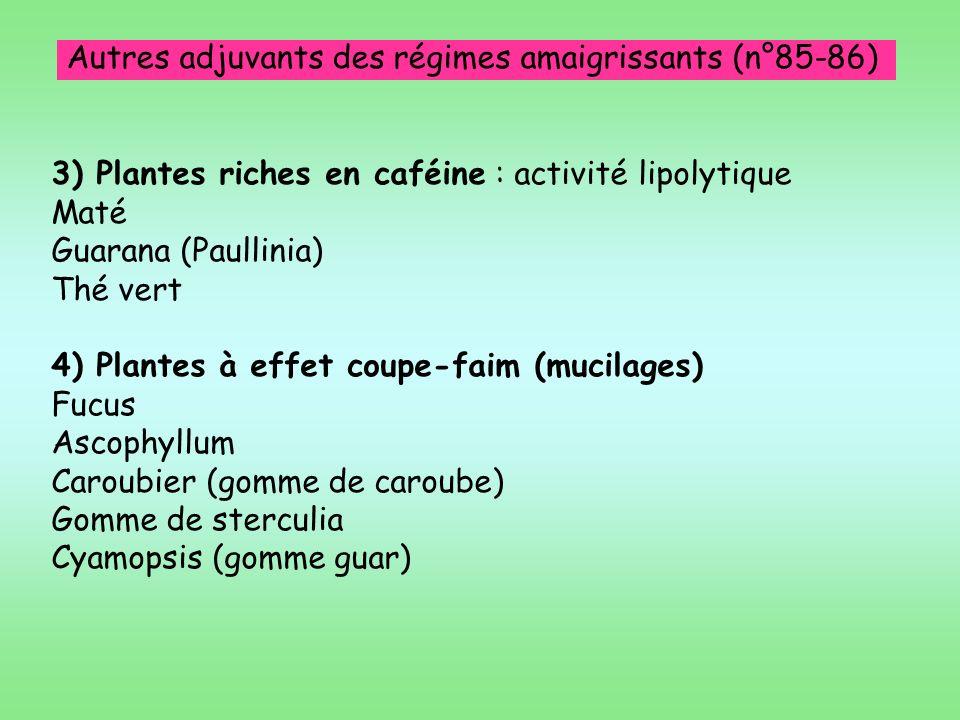 Autres adjuvants des régimes amaigrissants (n°85-86)