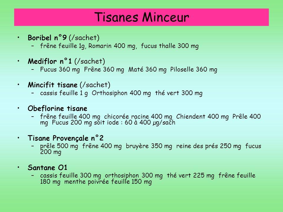 Tisanes Minceur Boribel n°9 (/sachet) Mediflor n°1 (/sachet)