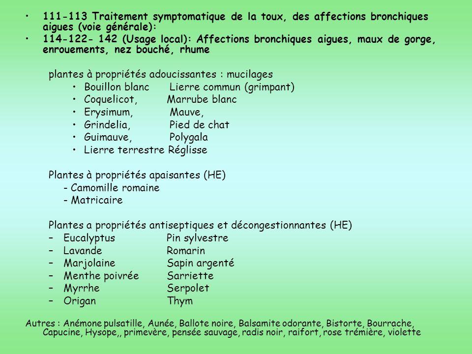 plantes à propriétés adoucissantes : mucilages