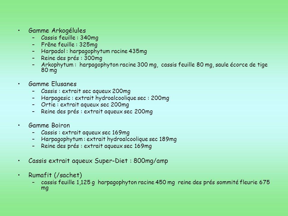 Cassis extrait aqueux Super-Diet : 800mg/amp Rumafit (/sachet)