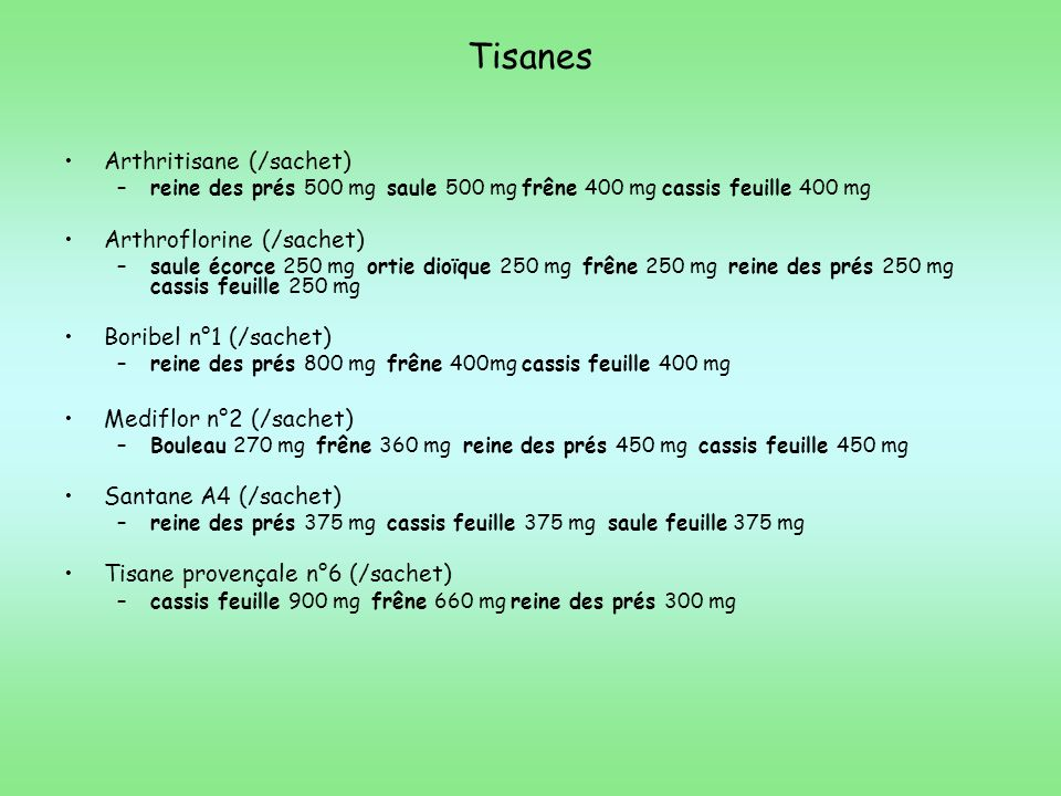 Tisanes Arthritisane (/sachet) Arthroflorine (/sachet)