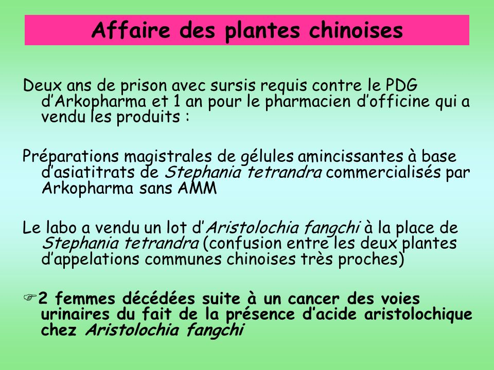 Affaire des plantes chinoises