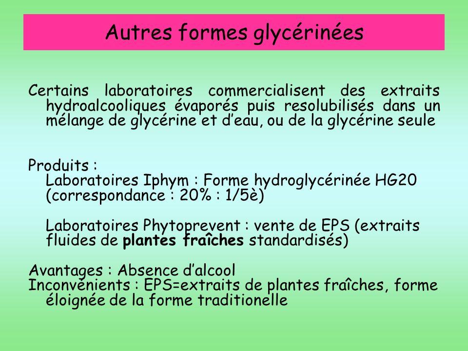 Autres formes glycérinées