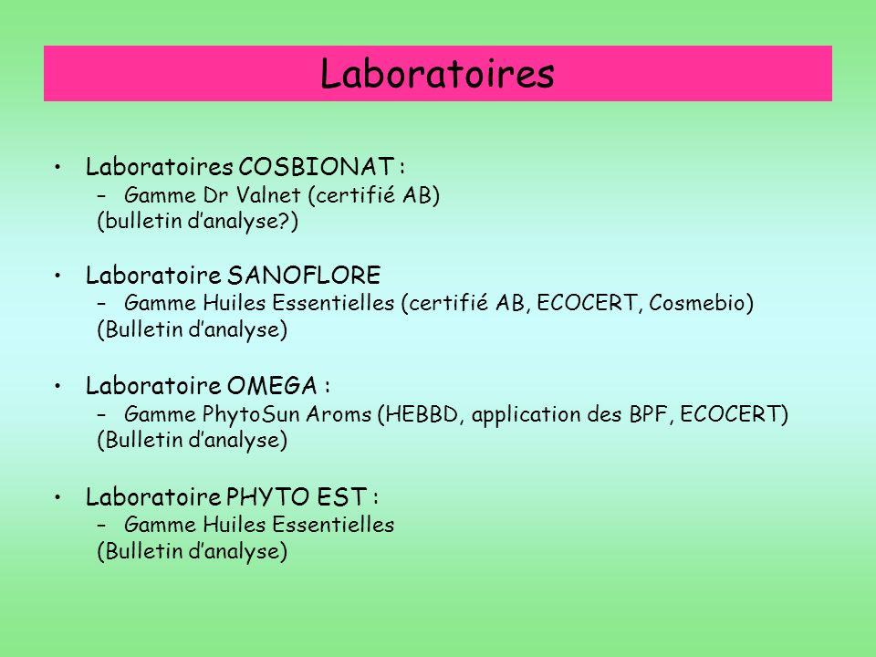Laboratoires Laboratoires COSBIONAT : Laboratoire SANOFLORE