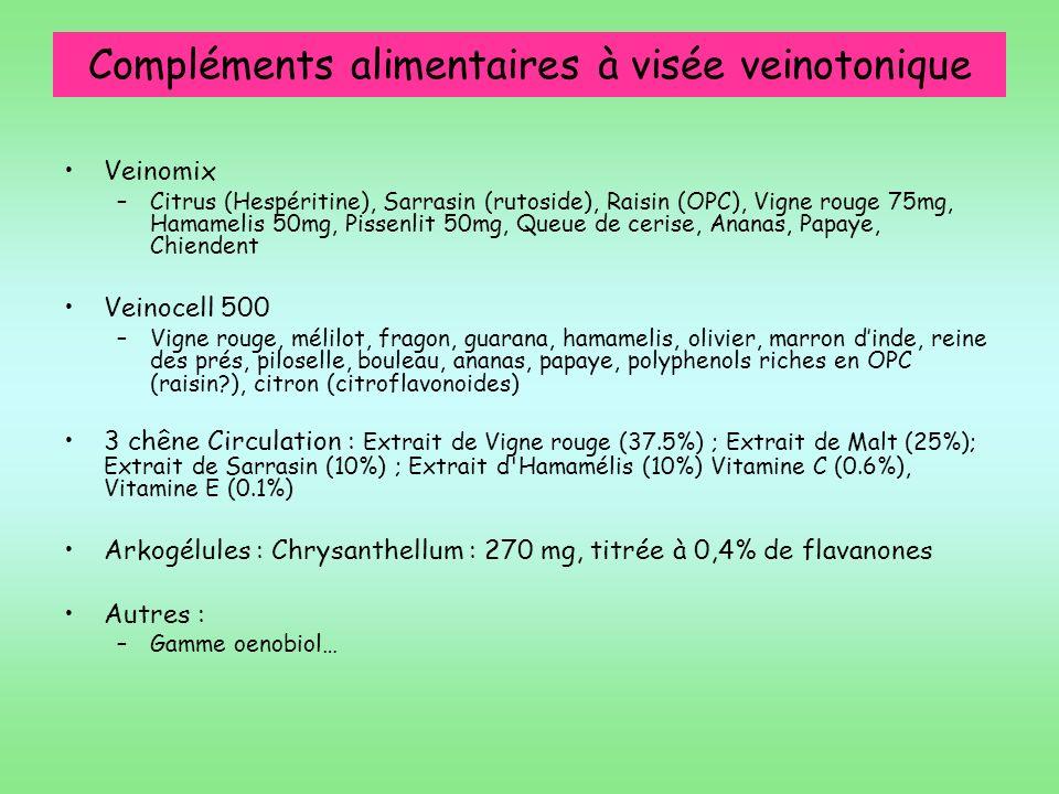 Compléments alimentaires à visée veinotonique