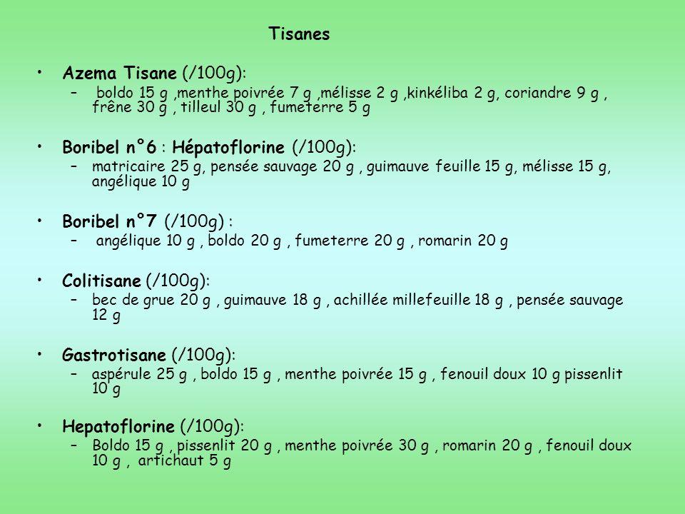Boribel n°6 : Hépatoflorine (/100g):