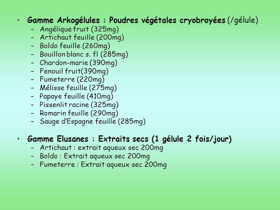Gamme Arkogélules : Poudres végétales cryobroyées (/gélule)